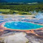 Големия призматичен извор, национален парк Йелоустоун, САЩ